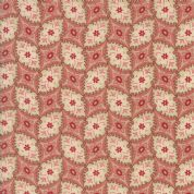 Moda Madam Rouge by French General - 5696 - Stylised Floral on Faded Red - 13776 18 - Cotton Fabric